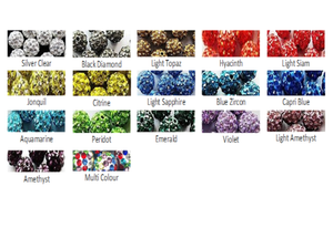 pave crystal rhinestone color chart