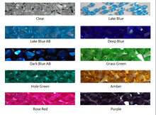 Load image into Gallery viewer, swarovski crystal color chart