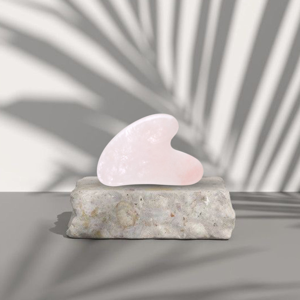 FACIAL GUA SHA - PURE ROSE QUARTZ GUA SHA