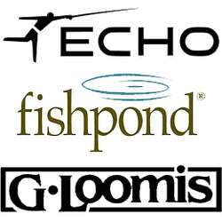 The Northern Angler carries Echo, Fishpond and G Loomis