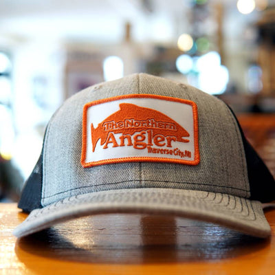 Northern Angler Patch Trucker Heather Gray/Black