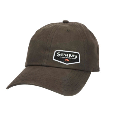 Simms Oil Cloth Cap Coffee