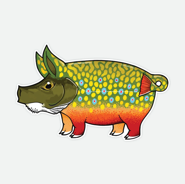 Pig Brook Trout Decal