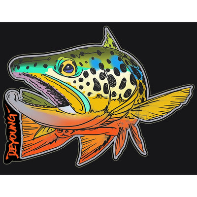 DeYoung Brown Turning Decal