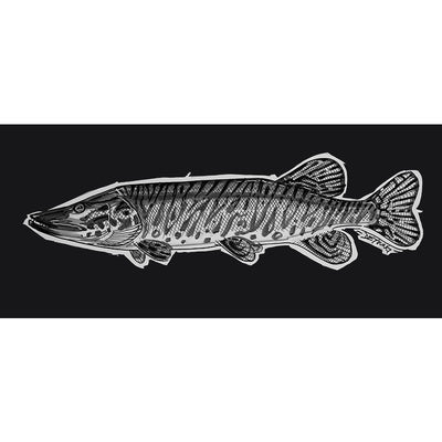 DeYoung Musky Sketch Decal