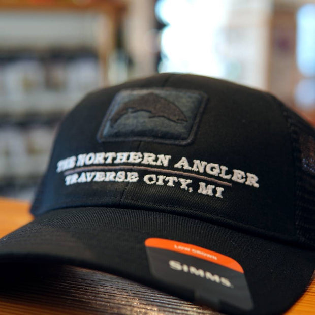 Northern Angler Trout Icon Trucker Black