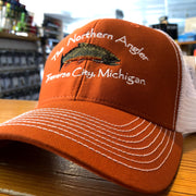 Vintage Rust/White Northern Angler Trucker