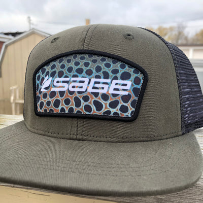 Sage Patch Brown Trout Trucker