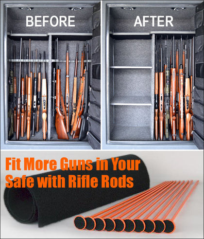 Rifle Rod Gun Safe Storage Solutions