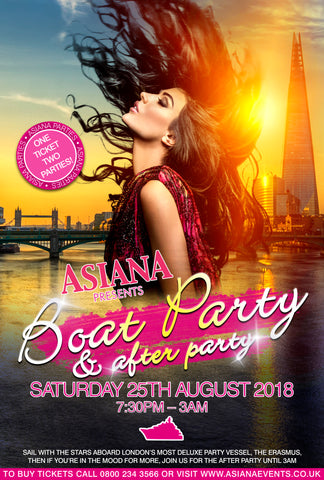 Asiana Boat Party 25th August 2018