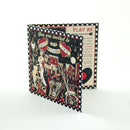 Gatefold Double Card Wallet - 4 Panel, 2 Pockets