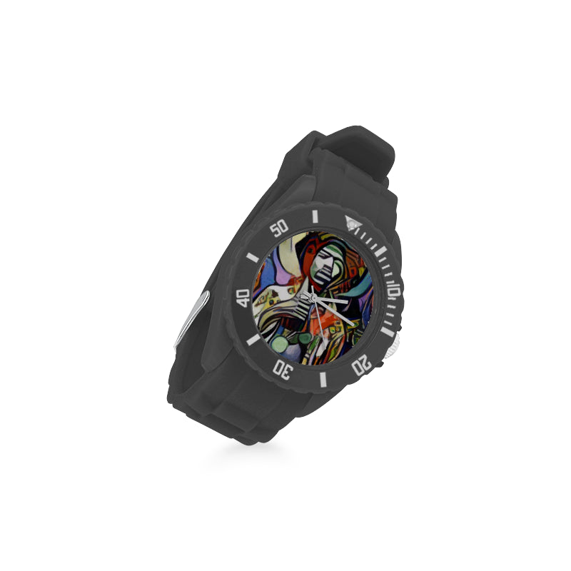 The Power of Love RockArt™ Sport Rubber Strap Watch (Model 301)