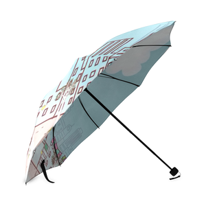 Cartoon City Foldable Umbrella