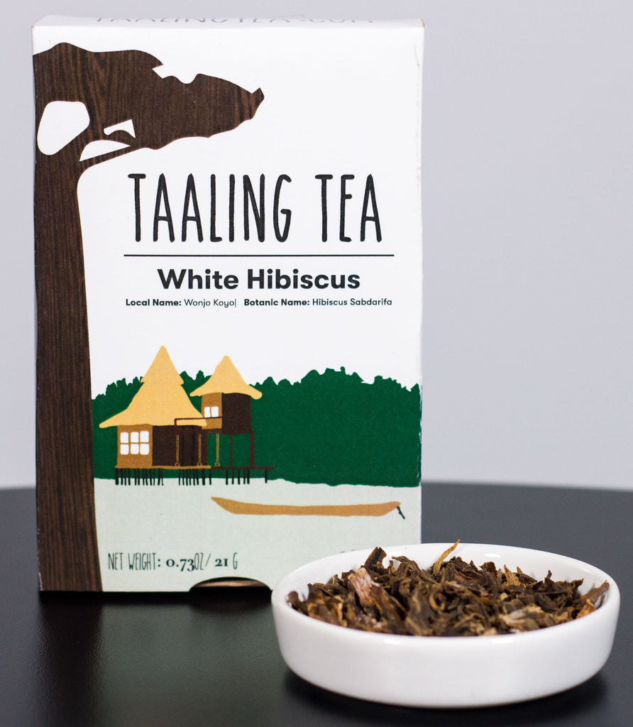 White hibiscus tea box