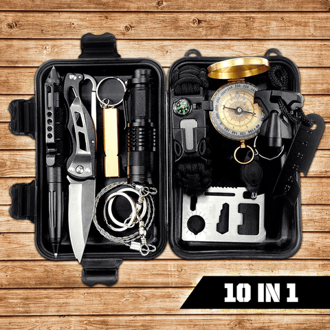 10 in 1 Emergency Survival Gear Kit