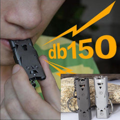 150db Stainless Steel Outdoor Survival Whistle - SkullVibe