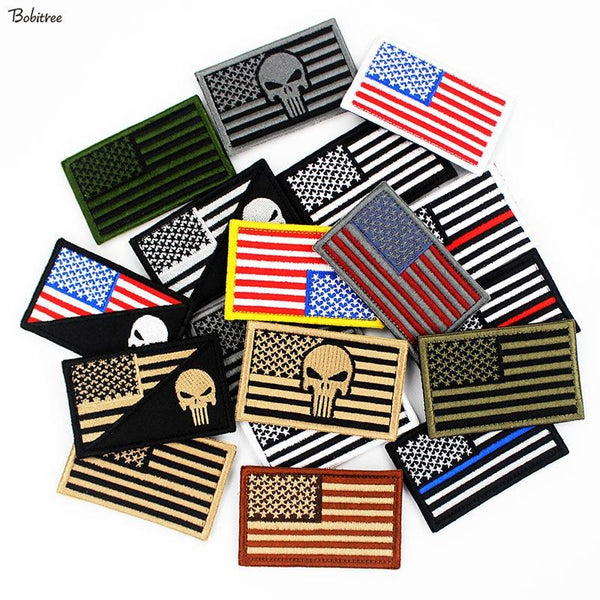 3D USA Flag Patches - SkullVibe