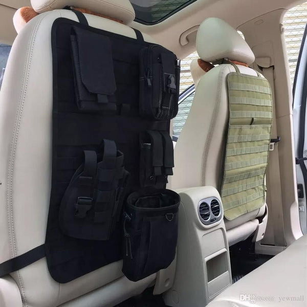 6 in 1 Tactical MOLLE Car Seat Back Organizer