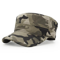 Camouflage Flat Top Dad Hat - SkullVibe