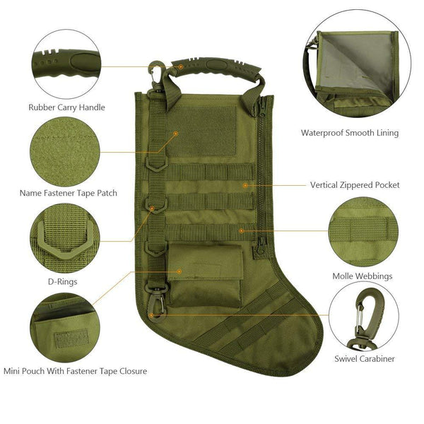 Tactical Christmas Molle Stocking - SkullVibe