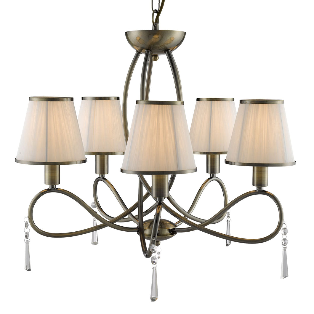 Simplicity Antique Brass 5-Light Chandelier