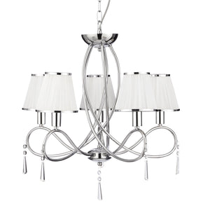 Simplicity Chrome 5-Light Chandelier