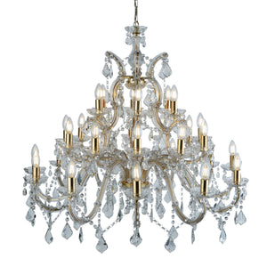 Marie Therese Brass 30-Light Chandelier