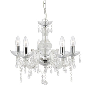 Marie Therese Clear 5-Light Chandelier