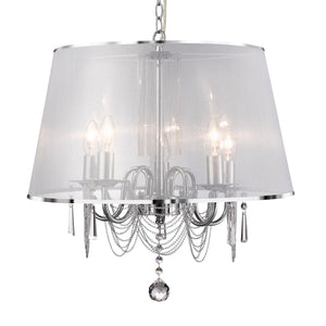 Venetian Chrome 5-Light Chandelier