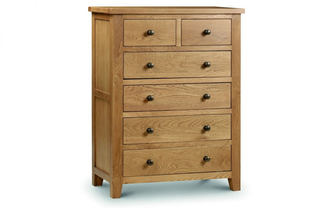 Marlborough Solid-Oak 4+2-Drawer Chest