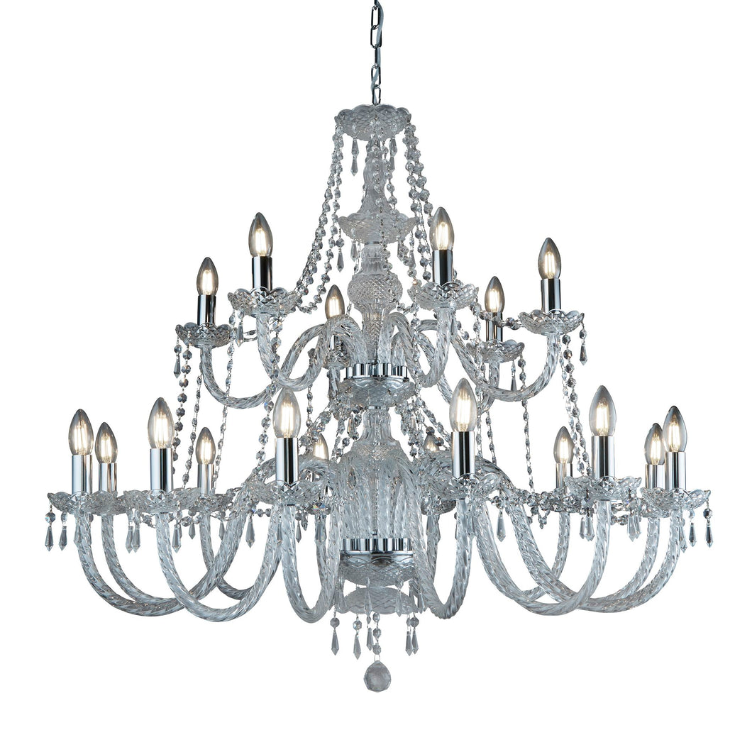 Hale Chrome 18-Light Chandelier