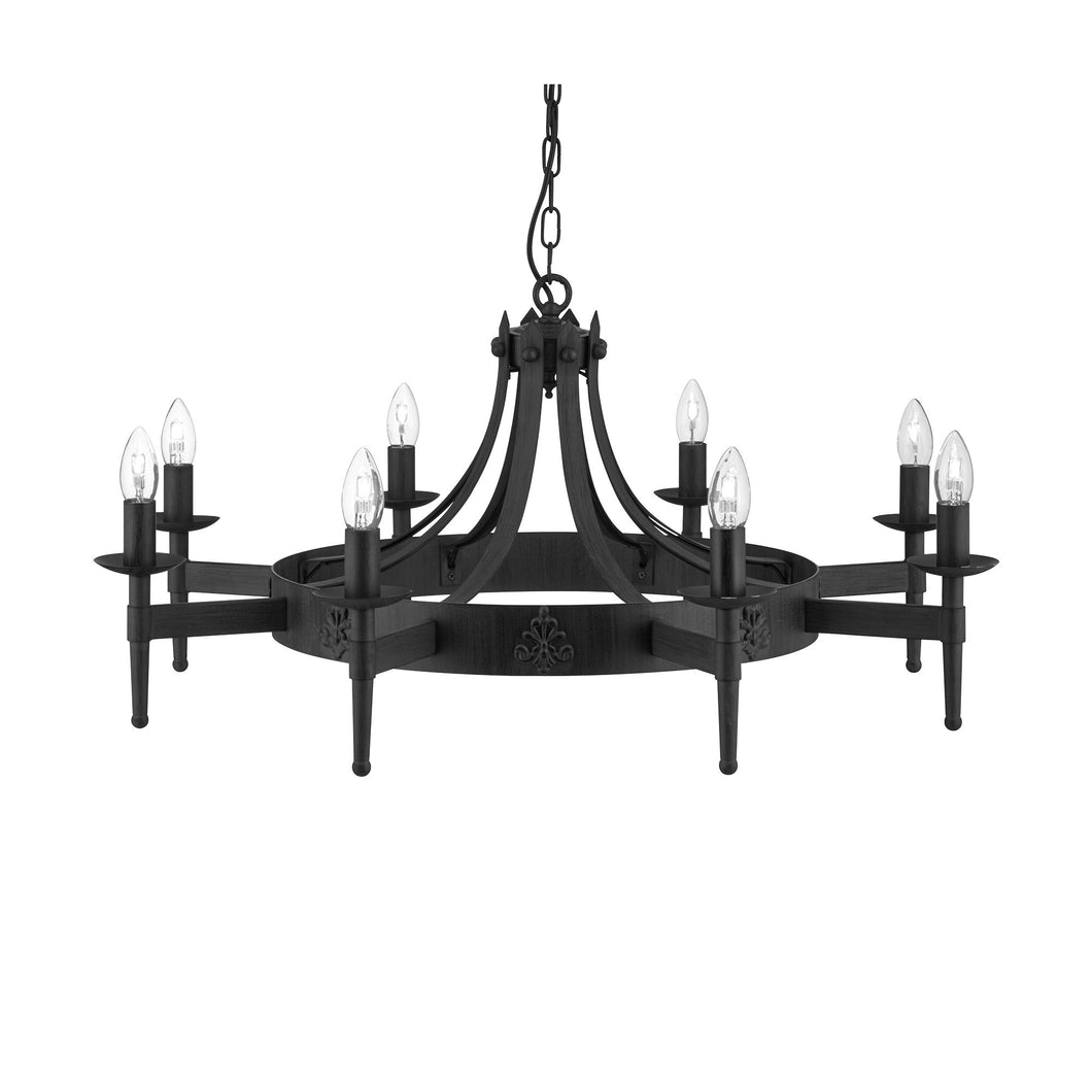 Cartwheel 8-Light Gothic Chandelier