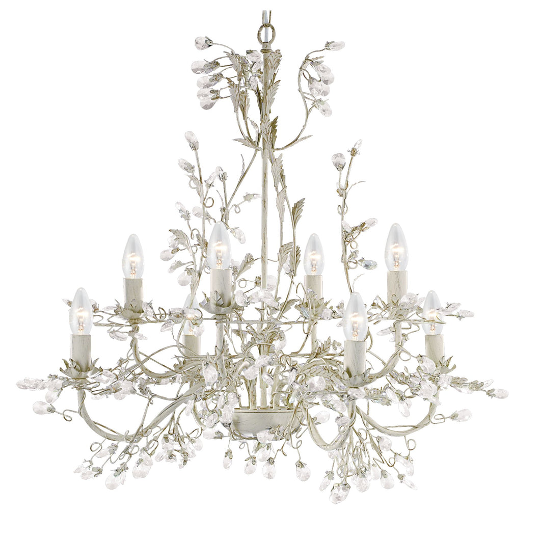Almandite Cream-Gold 8-Light Chandelier