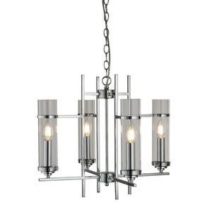 Milo Chrome 4-Light Fitting