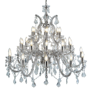 Marie Therese Chrome 30-Light Chandelier