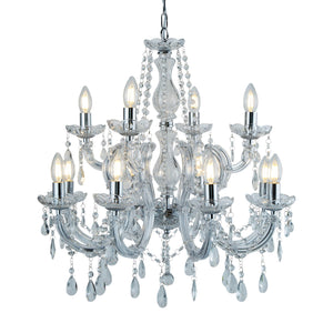 Marie Therese Chrome 12-Light Chandelier