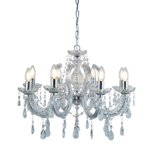 Marie Therese Chrome 8-Light Chandelier