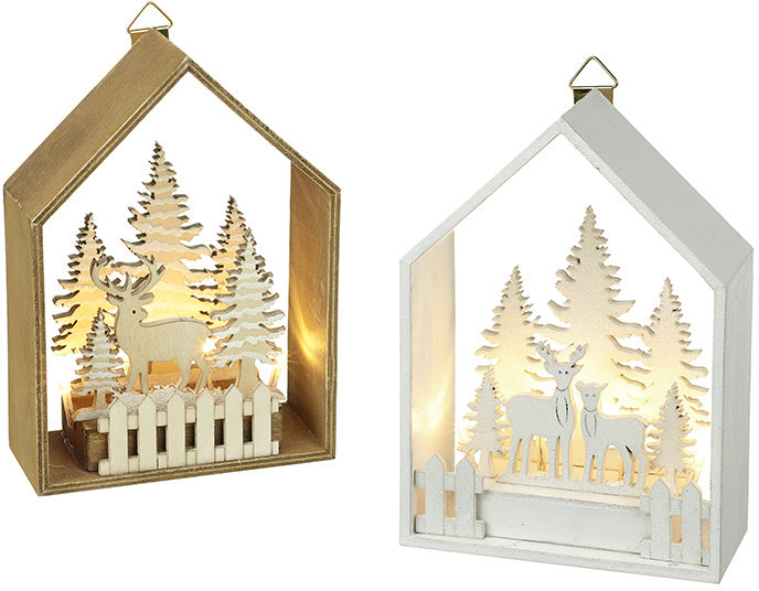 Light-Up Forest Scene
