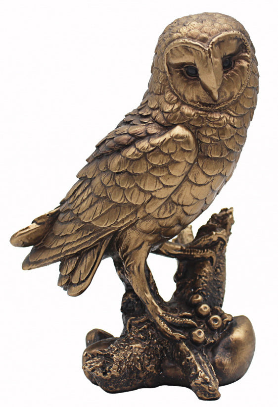 Large Bronzed Barn Owl Ornament