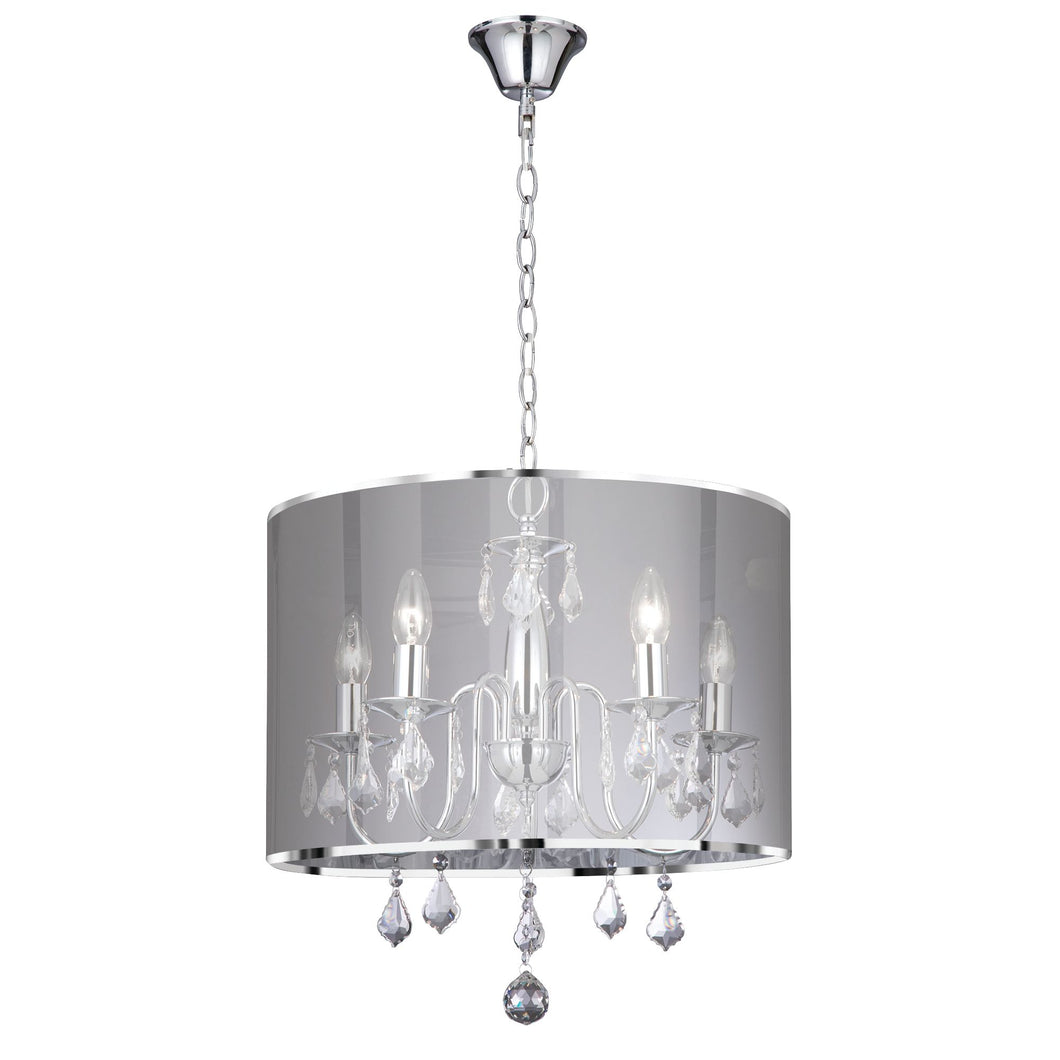 Venetian Chrome 5-Light Fitting