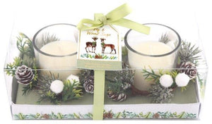 Fig and Sage Wood Candles Gift Set