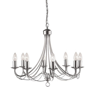 Maypole Satin Silver 8-Light Fitting