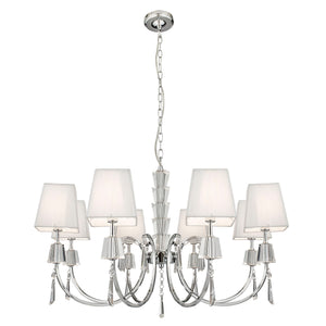 Portico Chrome 8-Light Fitting
