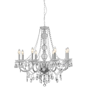 Marie Therese Glass/Chrome 5-Light Chandelier