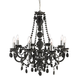 Marie Therese Black 8-Light Chandelier