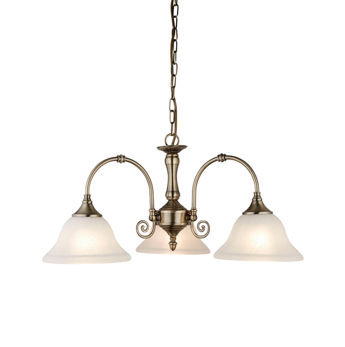 Virginia Antique Brass 3-Light Fitting