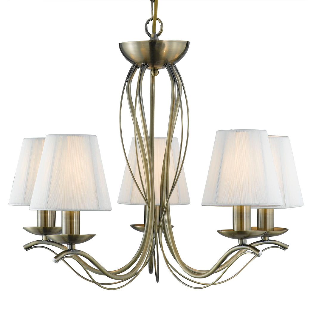 Andretti Antique Brass 5-Light Fitting