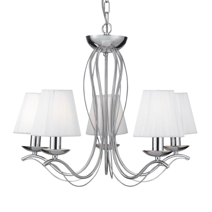 Andretti Chrome 5-Light Fitting