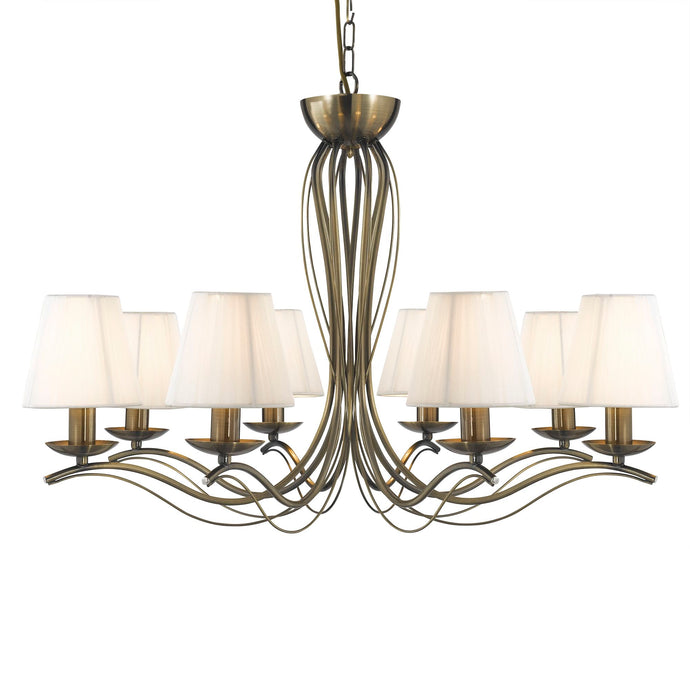 Andretti Antique Brass 8-Light Fitting