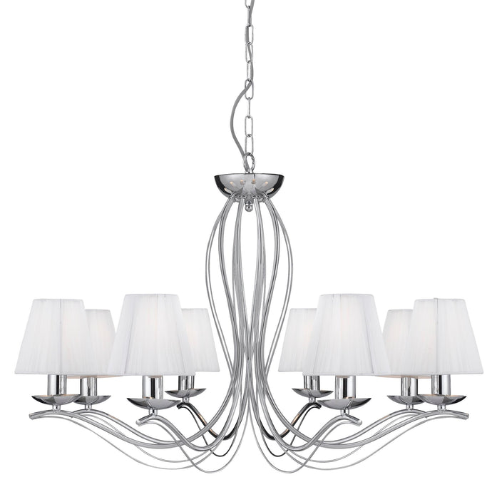 Andretti Chrome 8-Light Fitting